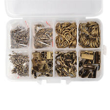 1Box Antique Bronze Diy Jewelry Findings Alloy Lobster Claw Clasps Jump Rings