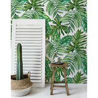 Jungle Leaves Wallpaper Exotic Home Mural Wall covering Traditional Watercolor