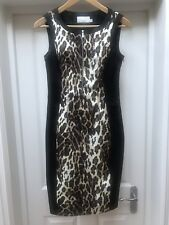 Karen Millen Leopard Animal Print Evening Party Occasion Shift Dress 8 10