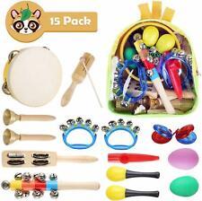 Instruments de Musique en Bois pour Bébé 15 pièces