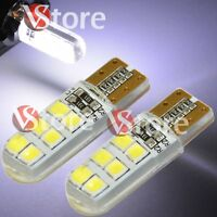 2pc Led Lampade T10 12 SMD Can-bus Luci BIANCO Gel Silica COB Posizione Auto Car