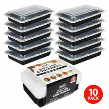 10 x Meal Prep Food Containers Microwavable BPA Free Plastic Lunch Box