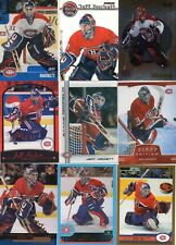 9-jeff hackett all montreal canadiens card lot nice mix