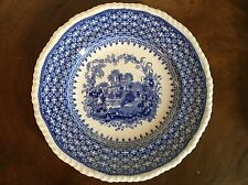 Antique English Staffordshire Blue & White Plate Gothic Ruin 19th century