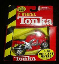 2 Wheel TONKA Red Kawasaki NINJA die cast ZX-7R motorcycle w BOX 1:18