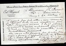 """CLAMECY (58) DEPOT / RAFFINERIE de SUCRE """"A. SOMMIER / E. MIGUET"""" en 1906"""