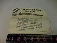 SPRINGFIELD MUSKET MODEL 1861, 58 CAL. REPLICA METAL GUN
