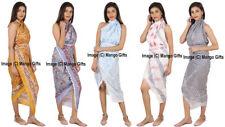 Block Print Cotton Beach Wrap Long Dupatta Pareo Cover-Up Girls Fashion Sarong