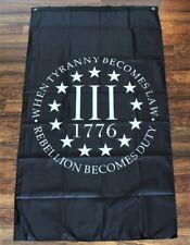 Oathkeeper Iii 3%er 1776 Flag Banner Rebellion Oath Keeper 3 x 5 Vertical Flag