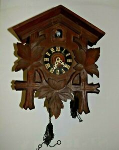 VINTAGE BLACK FOREST CUCKOO CLOCK. GERMANY MADE.  FOR PARTS OR REPAIR