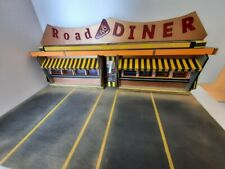 Diorama 1/18 DINER Road 66 resto USA no car scale 1:18  65x36x27 cm..