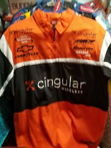 Robby Gordon Jeff Burton Cingular Wireless  race used pit crew uniform shirt L