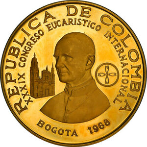 [#867741] Coin, Colombia, 1500 Pesos, 1968, Bogota, Proof, Gold, KM:235