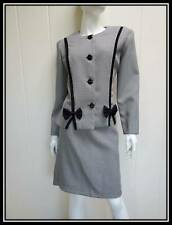 Vintage 80s 2 pc black white hounds tooth skirt suit outfit 12P