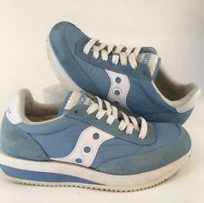 Vintage Saucony Hornet Light Blue 1980s Womens Casual Running Size 7 B+ Shape