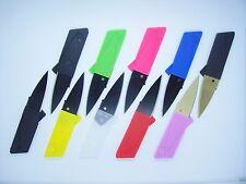 20 Multi Color Credit Card Knives folding wallet pocket survival micro knife