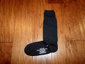 NEW MILITARY ISSUE CUSHION SOLE WOOL BLEND SOCKS U.S.A MADE BLACK