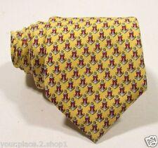 "Vineyard Vines Men's All Over Yellow Anchor Ribbon Silk Tie 3 3/8"""