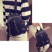 Women Casual Mini Leather Backpack Schoolbag Vintage Travel Shoulder Bag Tote