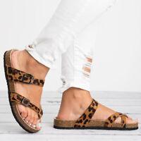Womens Birkenstock Flat Platform Sandals Slip On Summer Beach Slippers Flop Flip