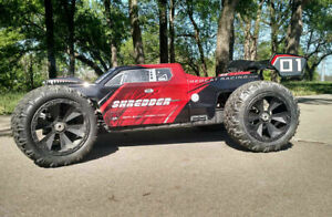 Redcat Racing Shredder 1/6 Scale Brushless Electric Monster RC Truck Red ARTR