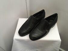 MENS BLACK LEATHER FLORSHEIM SLIP-ON DRESS FORMAL SHOES size 6.5