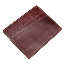Credit Card Holder Genuine Leather, Dark Brown