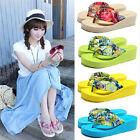 Hot Women Summer High-heeled Thick Flip Flops Sandals Beach Slippers Shoes 09
