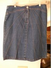 !!! Cute Woman's DENIM SKIRT, Faded Glory, Size 8, 1972 Special Edition
