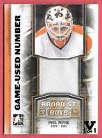 2015-16 Phil Myre ITG Final Vault 2011-12 Broad Street Boys Number 1/1 - Flyers