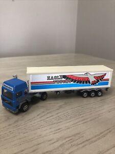 Majorette Volvo Semi Box Eagle Trucks 1:60 Scale Made in France Loose Diecast