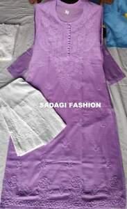 New Year Special Pure Cotton Kurta Pant Set Festive Ethnic Wear Chikankari Kurti