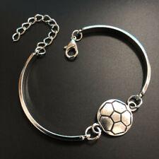 hand made fine silver football Cuff Bangle Bracelet Jewelry Hallowmas,Bangle