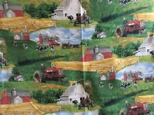 """ON THE FARM, 100% Cotton Fabric; 39"""" by the width; BY: CRANSTON"""
