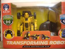 Blue Hat Radio Control Transforming Robot RC Toy Race Car For Ages 6+ Yellow