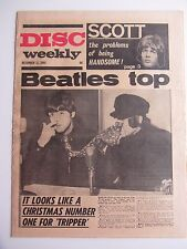 THE BEATLES ORIG 1965   DISC  MUSIC PAPER  BEATLES COVER BEATLES CHRISTMAS No 1