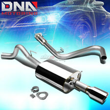 "FOR 08-10 COBALT SS LNF 2.0 TURBO 4""ROLLED TIP MUFFLER STAINLESS CATBACK EXHAUST"