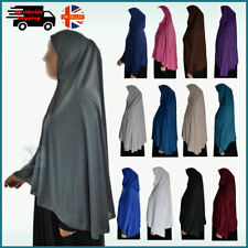 XL one Piece Amira Hijab Cotton Khimar Jilbab Abaya Scarf pull on ready made