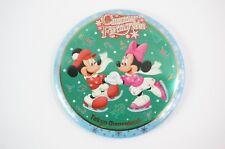 Tokyo Disney Resort Button TDL Christmas Fantasy 2002 Mickey Minnie Skate