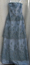 Montage by Mon Cheri Womens Periwinkle Dress Gown/w Shawl 10