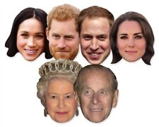 Royal Wedding 2018 Face Masks - 6 Pack includes Harry, Meghan and The Queen