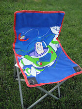 Used Disney Toy Story Buzz Lightyear Child Lawn Chair, 55 lb max, w/carry bag