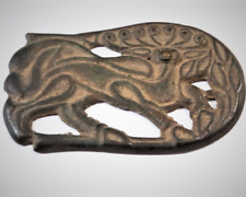 Ancient Scythian Ordos Culture China Bronze Deer Stag Plate