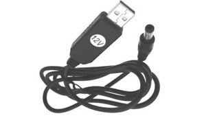 USB-Kabel 5V DC zu 12V Spannungswandler 2,1x5,5mm Stecker Interface Konverter 1m