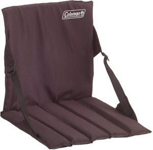 Coleman Stadium Seat Black, Boating, Canoeing, Camping, Hiking Outdoors