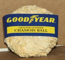 2 Goodyear Genuine Leather Chamois Ball NEW Auto Car Cleaning Dry Kleen Maid