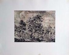 Paysage avec un Pont sur la Stour par John CONSTABLE Dessin Imprimé 225 x 293 mm