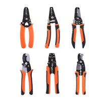 Wire Stripper Cable Cutting Scissor Stripping Pliers Crimping for AWG 8-22