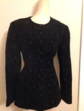 Oscar de la Renta Black Velvet Jacket with sequin Size ( Women's) 10