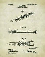 Medical Doctor Patent Poster Art Print Surgeon Nurse Instruments Gifts PAT308